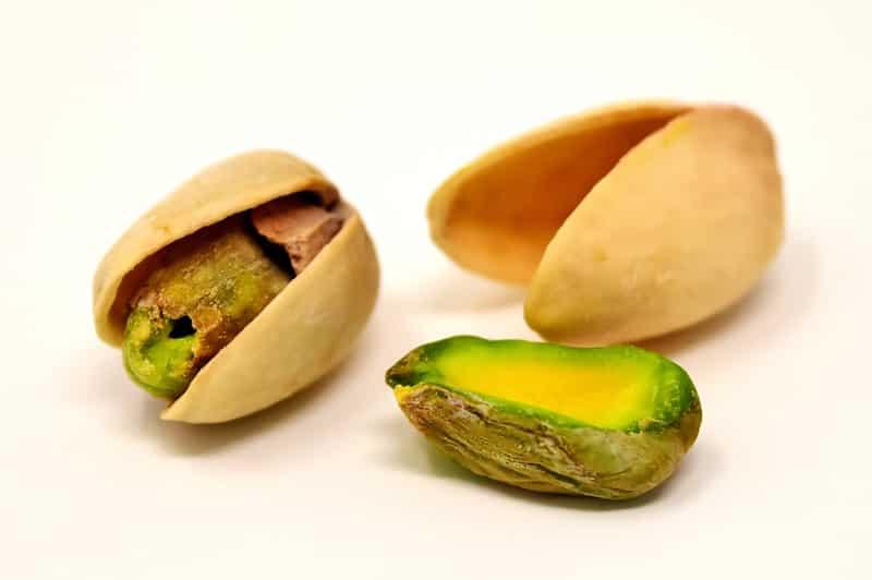 Por que los pistachos son verdes
