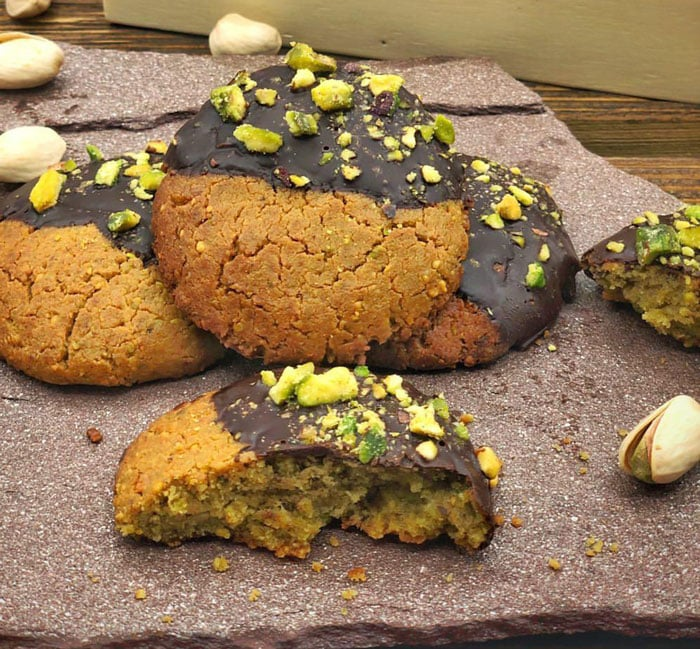 Cookie de pistacho saludable