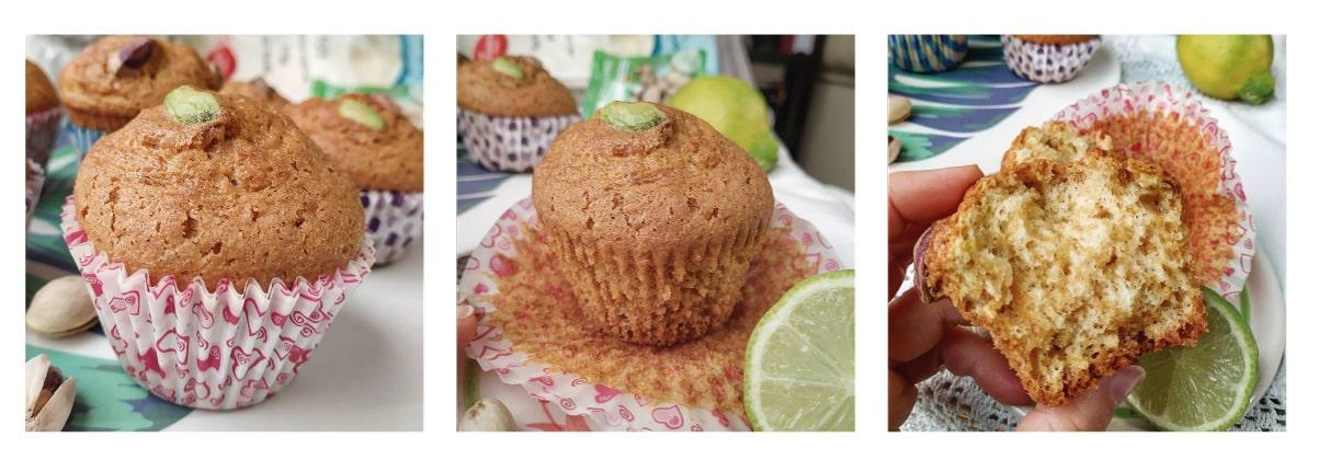 Magdalenas de limón y pistacho elaboración