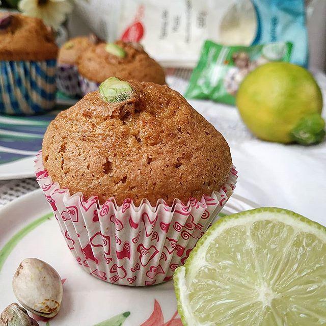Magdalenas de limon y pistachos