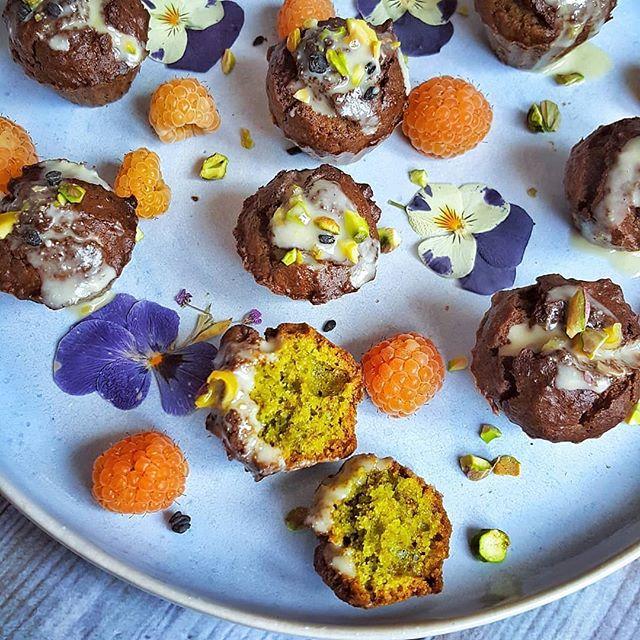 Mini muffins de pistacho