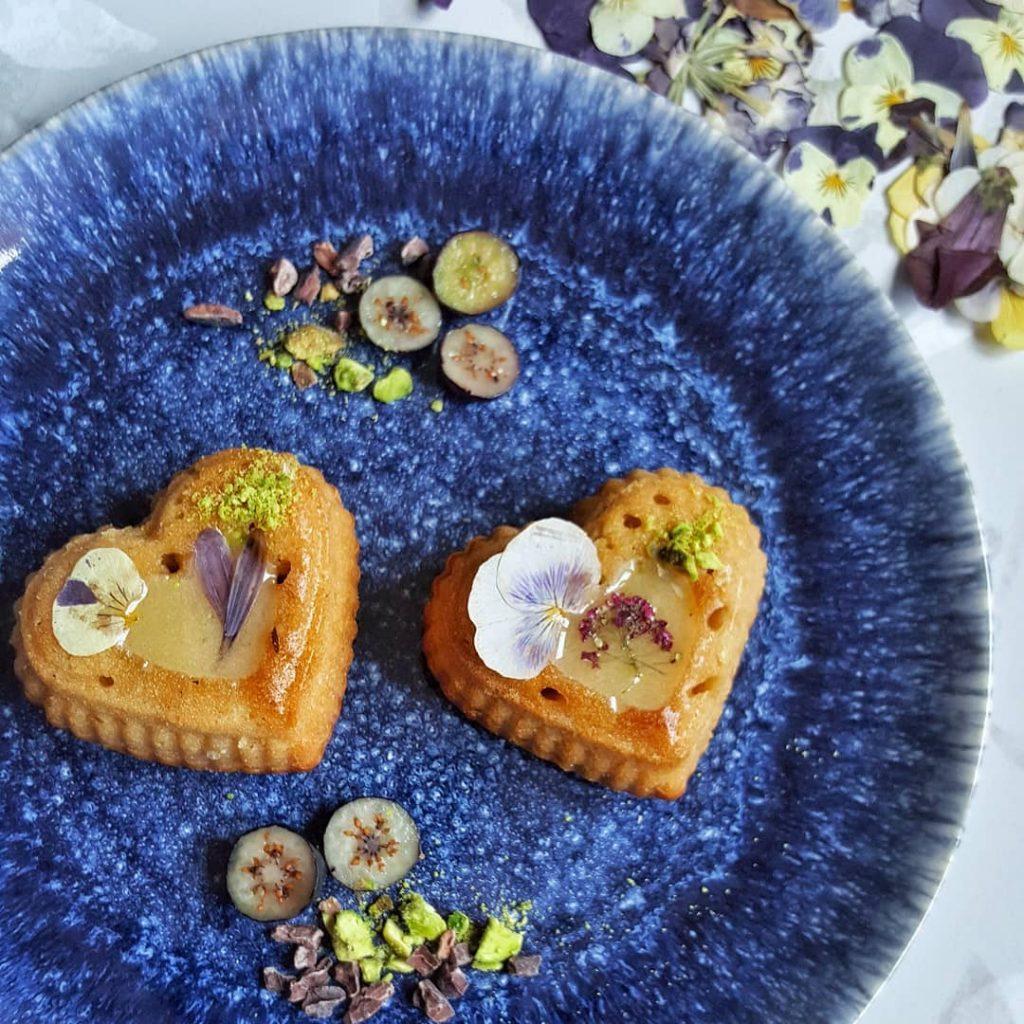 Muffins de pistachos y limón