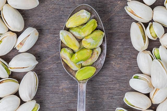 Pistachos aptos en dietas para bajar peso