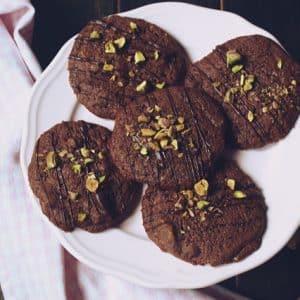Cookies choco y pistachos