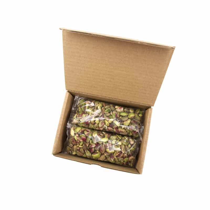 Pistachos pelados en bolsas individuales de 100 gramos