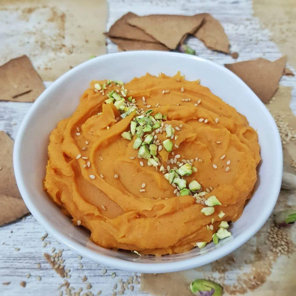Hummus de boniato y pistachos 1