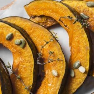 calabaza asada y frutos secos