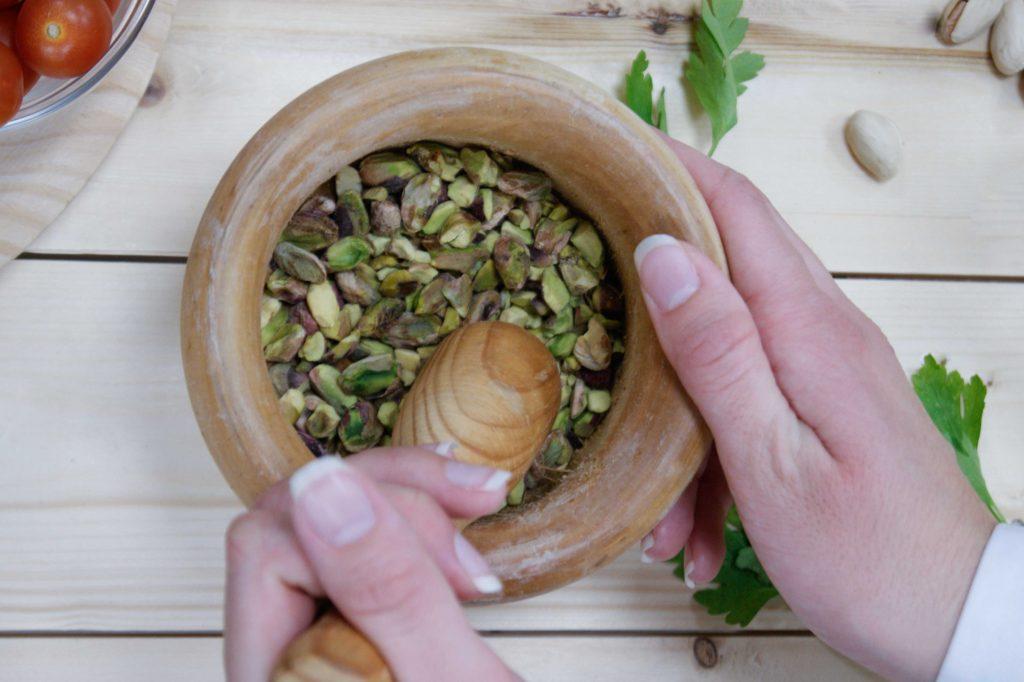 Pesto de pistachos